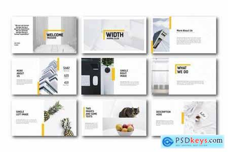 Width Minimal Powerpoint Google Slides and Keynote Templates