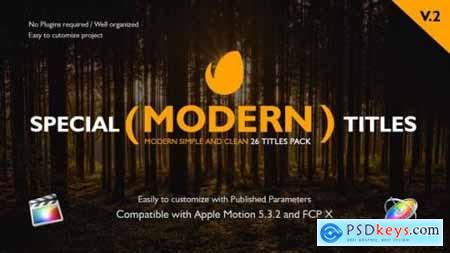 Videohive Special Modern Titles Pack for FCPX V2 20708205