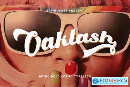 Oaklash - Retro Bold Script Font 4390472