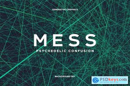 Psychedelic Mess Background Set