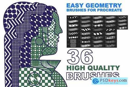 Procreate Easy Geometry brushes 4328171