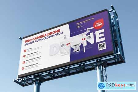 Drone Product Showcase Billboard PSD Template