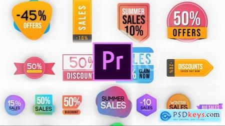 Videohive Trendy Sales Badges MOGRT 25267379