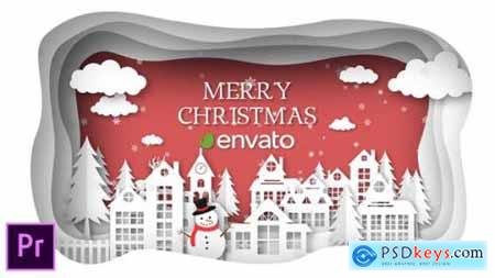 Videohive Christmas Paper Town Wishes Premiere Pro 25274607