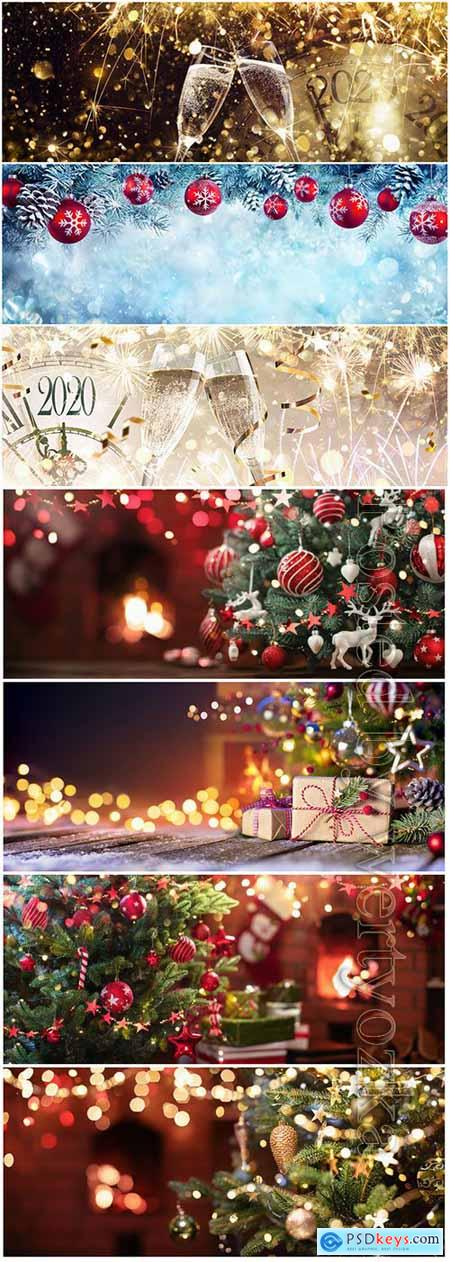 Christmas and New Year, holiday backgrounds
