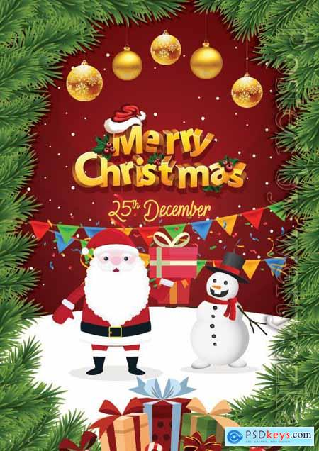 Merry Christmas Greeting - Premium flyer psd template
