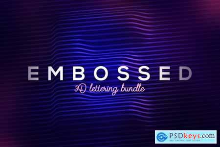 Embossed Lines 3D Lerttering 3850501