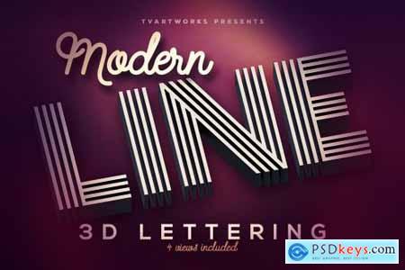 Modern Lines 3D Lerttering 3858571