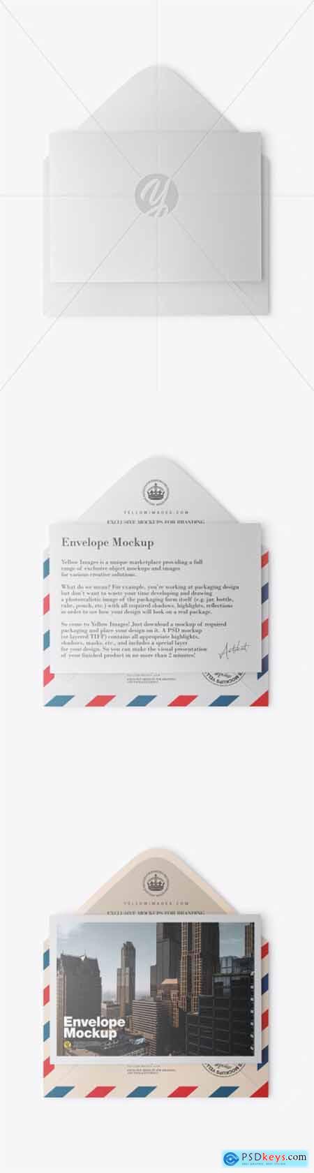Matte Envelope w- Postcard Mockup 51168