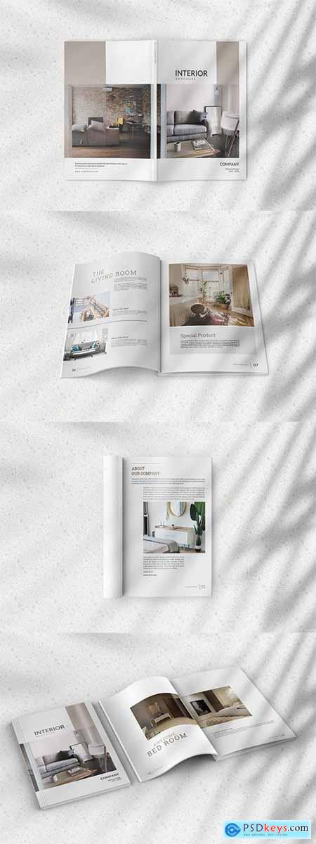 Magazine Mockup with Realistic Natural Shadow