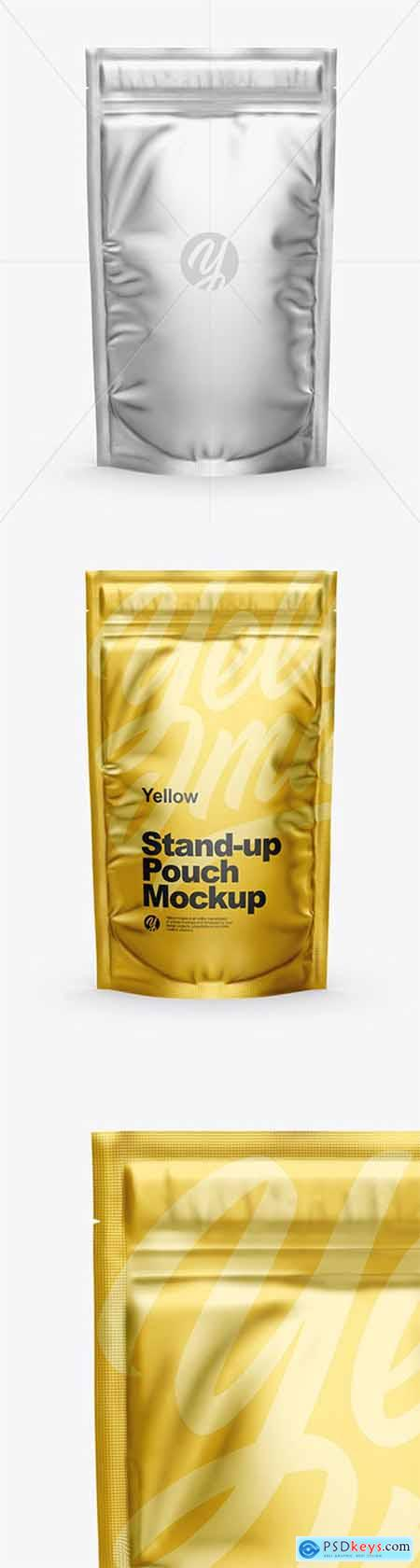 Matte Metallic Stand Up Pouch with Zipper Mockup 51161
