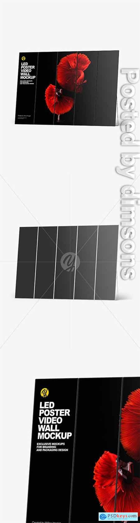 LED Poster Video Wall Mockup 51245