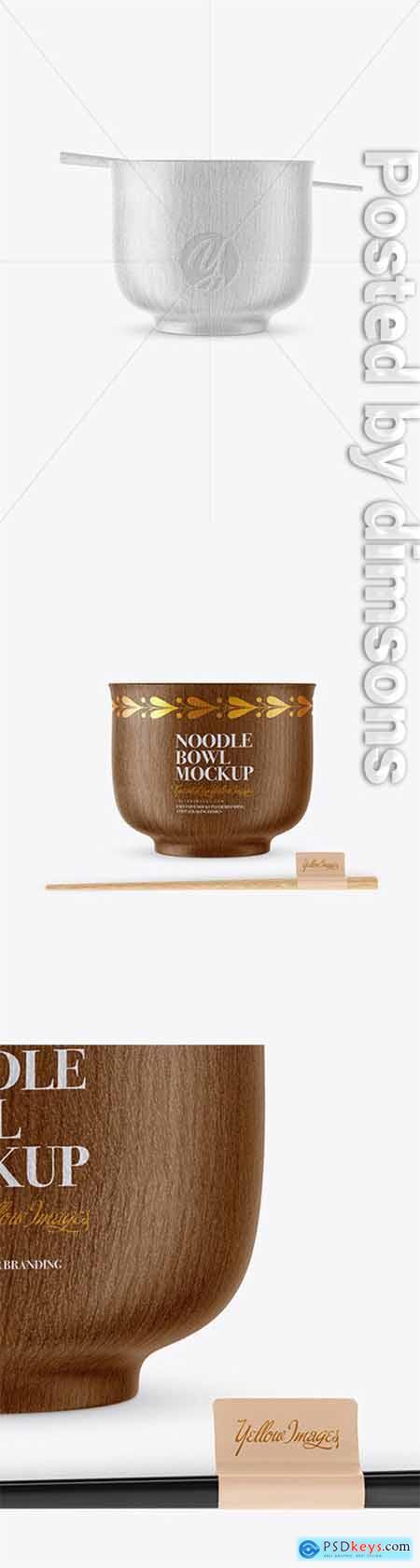 Wooden Noodle Bowl Mockup 51256