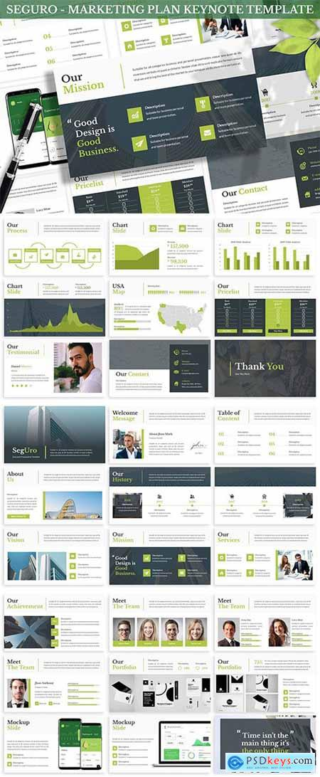 Seguro - Marketing Plan Keynote Template