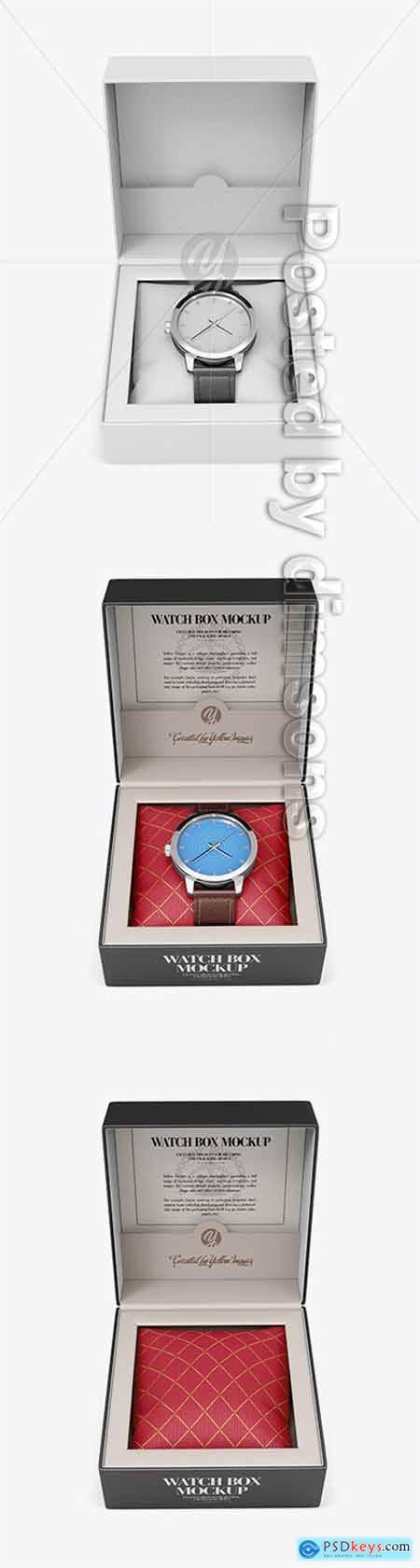 Opened Watch Box Mockup - Front View 51464