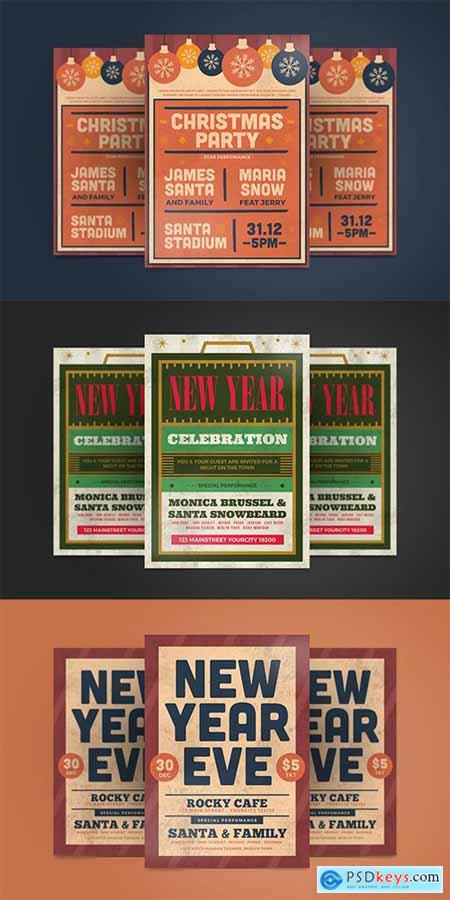 New Year Flyer and Christmas
