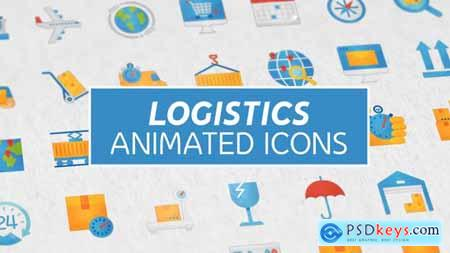 Videohive Logistics & Transportation Modern Flat Animated Icons 25152872