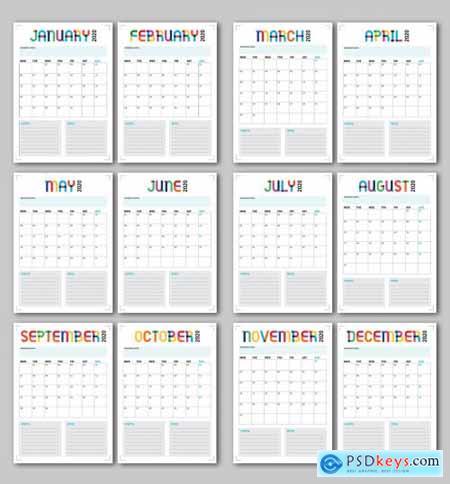 Annual Calendar Planner Layout