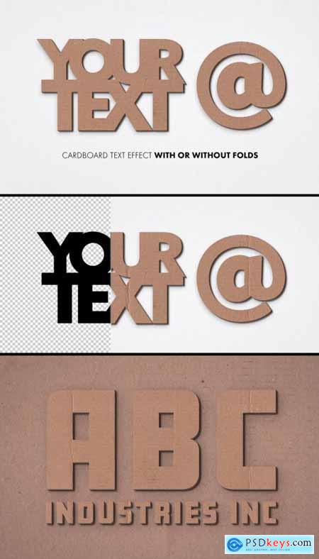 Cardboard Text Effect Mockup