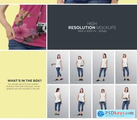 Womens Sleeveless Shirt Mockup Set