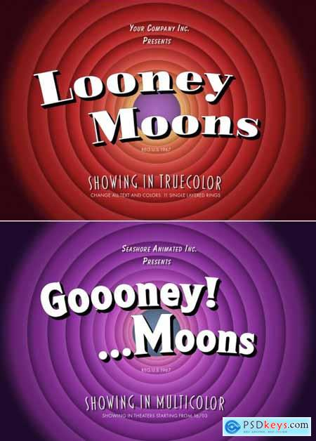 Vintage Cartoon Series Text Effect Mockup