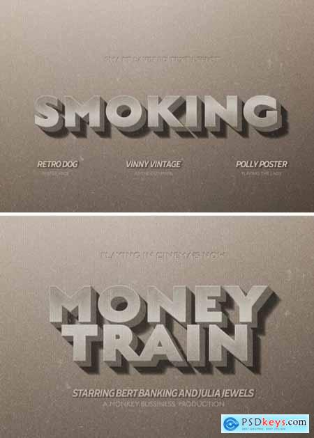Vintage Movie Title Text Effect Mockup