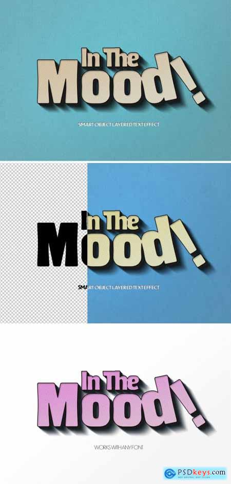 Retro Logo Design Text Effect Mockup
