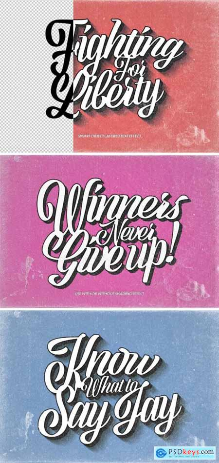Vintage Grunge Text Effect Mockup