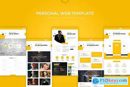 Personal - PSD Web Template