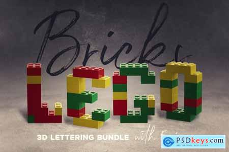Toy Bricks 3D Lettering 3828851
