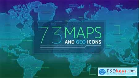 Videohive 73 Maps And Geo Icons 25256342