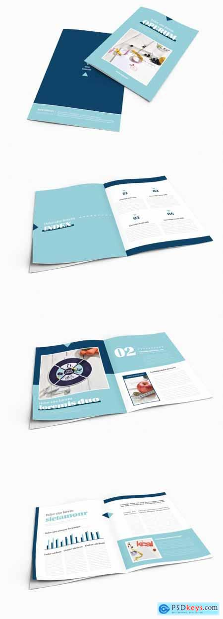 Bifold Brochure Layout with Diet Theme