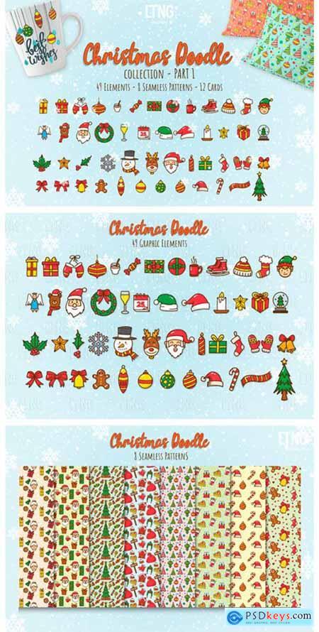 Christmas Doodle Graphic Element Part 2250783