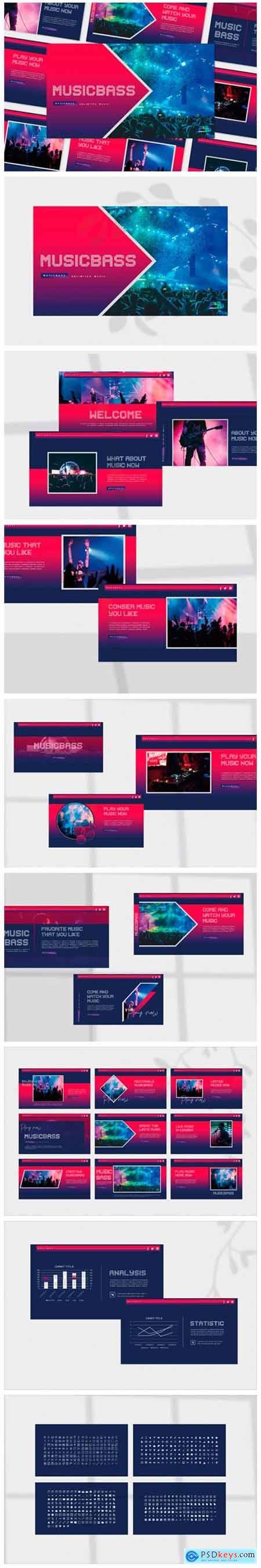Musicbass - Google Slides Template 2276837