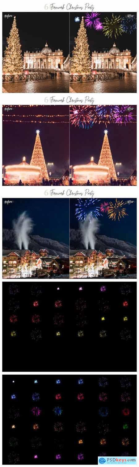 60 Firework Christmas Party Overlays 2239013