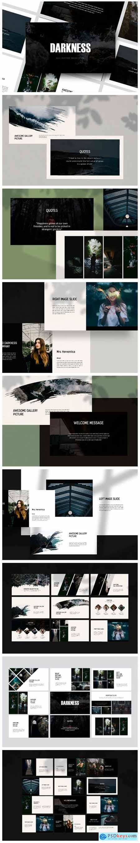 Darkness - Google Slides Template 2276723