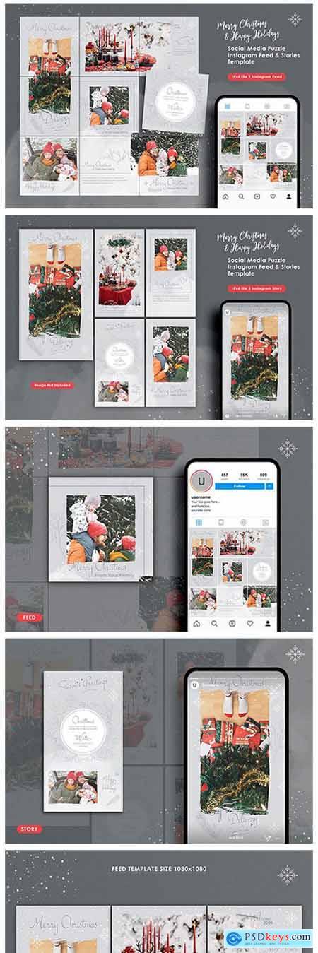 Christmas Instagram Feed & Story Bundle 2275216