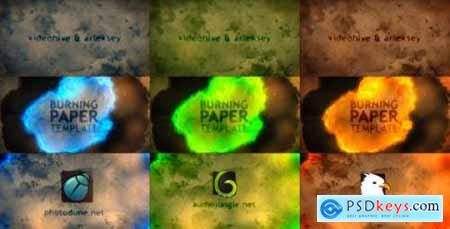 Videohive Burning Paper 11684063