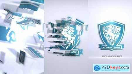 Videohive Crystal Parts Logo Sting 25135182