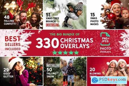 330 Christmas Photo Overlays 4297546