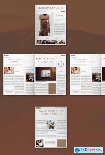 Fashion Newsletter Layout