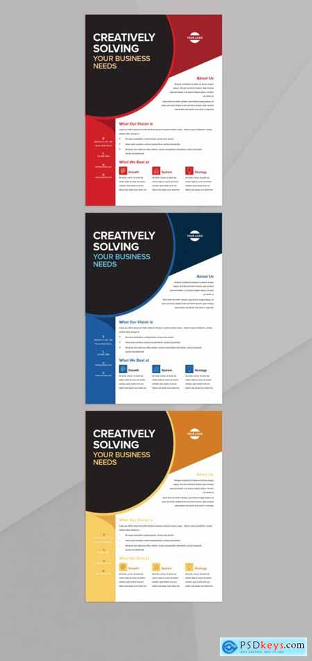 Flyer Layout with Bright Accents