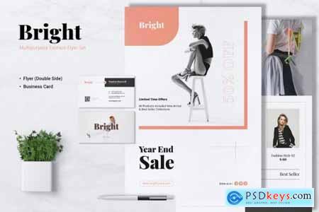 BRIGHT Fashion Flyer & Business Card