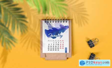 Mini Desk Calendar Mockup