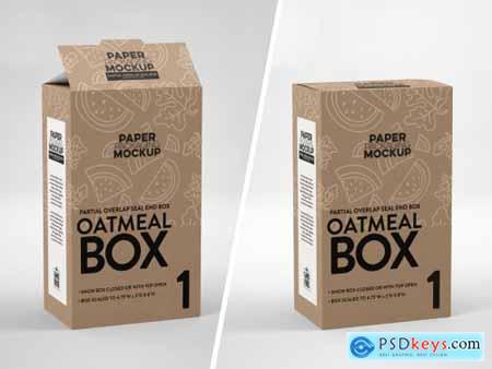 Sqaure Paper Boxes Mockup
