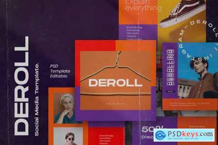 DEROLL PACK 2- Instagram Template + Strories