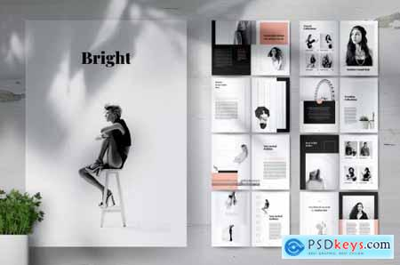 BRIGHT Fashion Lookbook Portfolio Brochures
