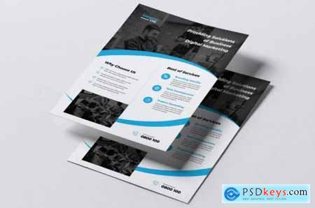 COMPORE Digital Marketing Flyer & Business Card