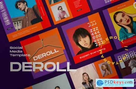 DEROLL PACK 1- Instagram Template + Strories