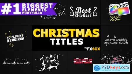 Videohive Christmas Titles And Transitions FCPX 25296025